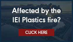 Affected by the IEI Plastics fire. Call Jim Leach, LC