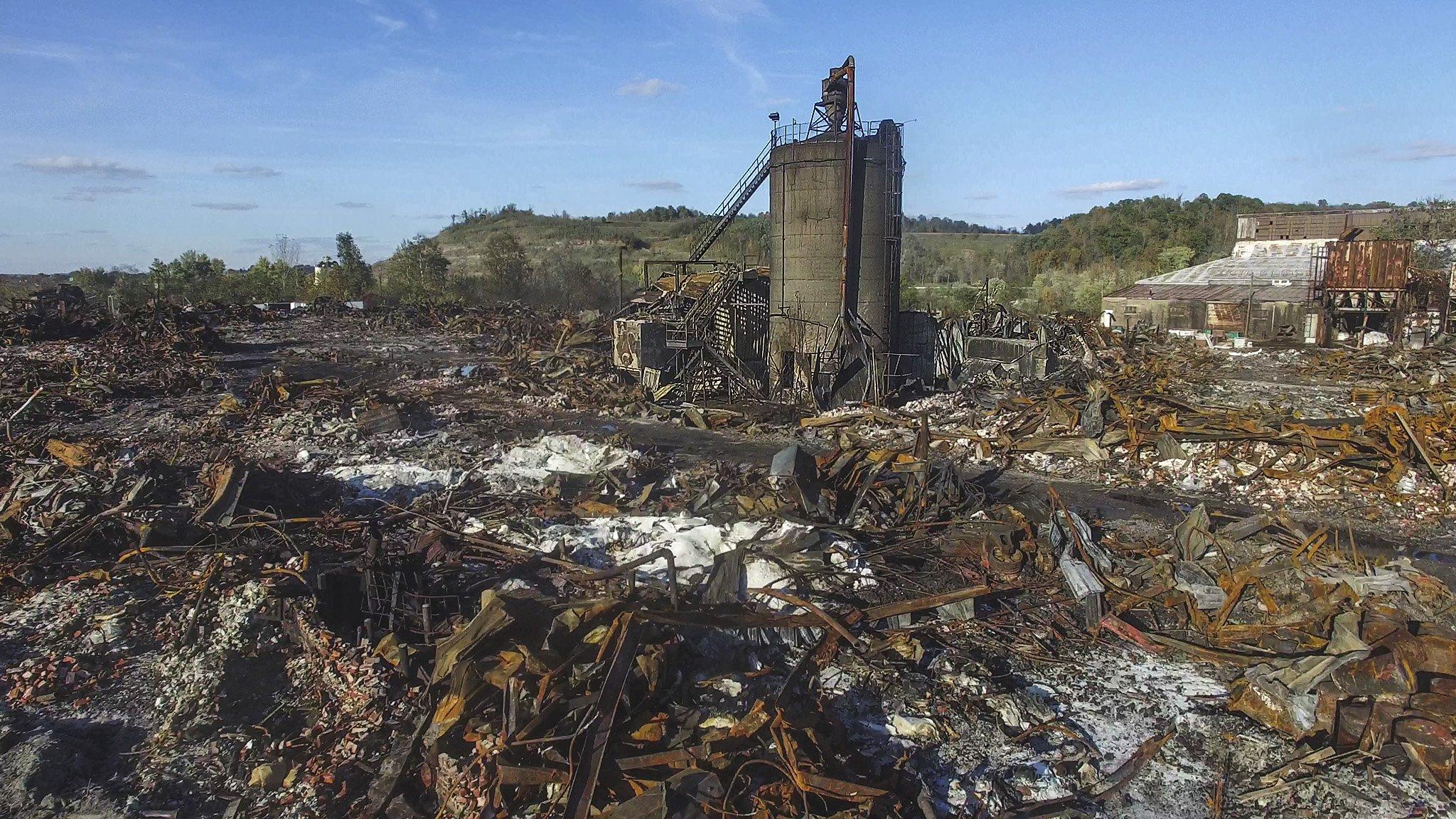 IEI Plastics Fire Aftermath - Parkersburg, WV